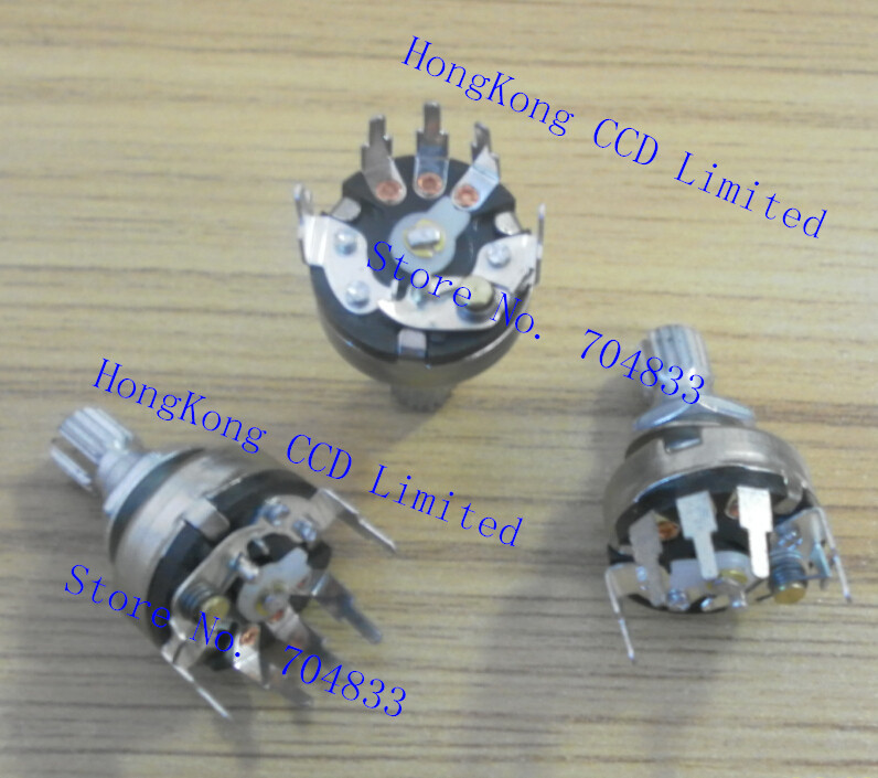 17MM steel iron handle rotary switch B1K audio appliances dimmer lighting accessories(China (Mainland))