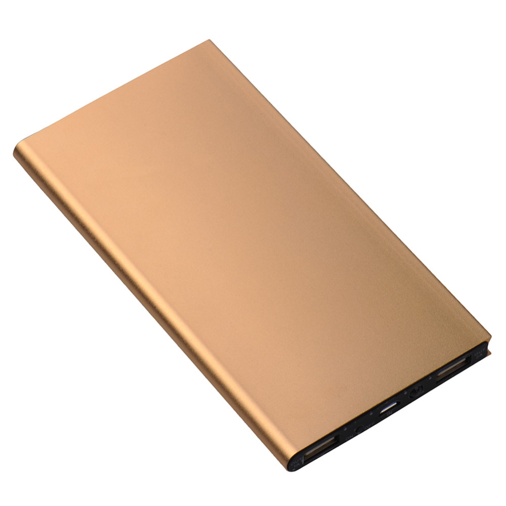Portable Phone Charger 20000 mAh Ultra Thin Aluminum Alloy Power Bank External Battery Charging Treasure for Smart Phone