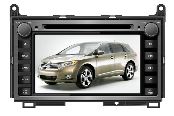 7 Inch In Dash Wince Car Dvd Player for TOYOTA VENZA With Built-in Digital TV GPS Free map(China (Mainland))