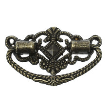 "Jewelry Wooden Box Pull Handle Knobs Irregular Antique Bronze Hollow 48mm(1 7/8"")x 24mm(1""),5 PCs 2015 new(China (Mainland))"