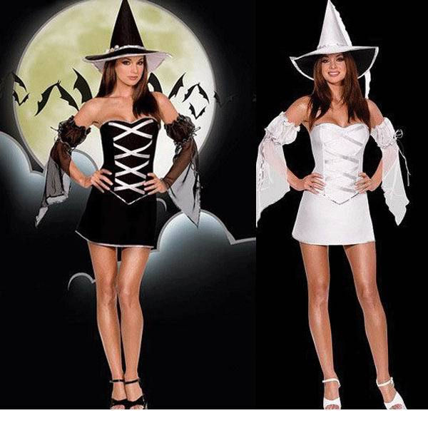 Free Shipping Hot Popular Sexy Costumes Women Halloween Elegant Witch costume PP1247(China (Mainland))