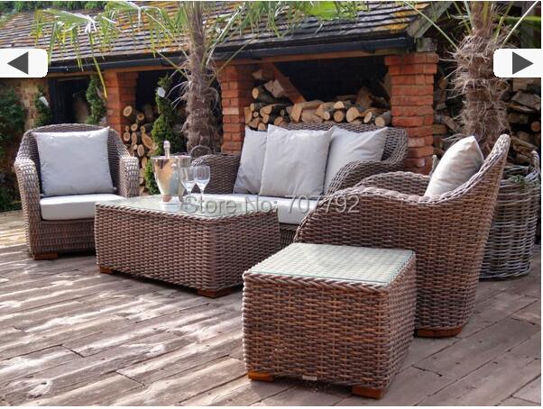 2015 hot sale new design outdoor ratan vintage style sofa for Muebles de jardin de ratan