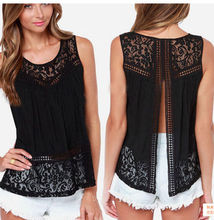 Women's Clothing Tops & Tees Tanks & Camis Fashion Women Summer Vest Top Sleeveless Casual Hollow Out Lace  Tank Tops(China (Mainland))