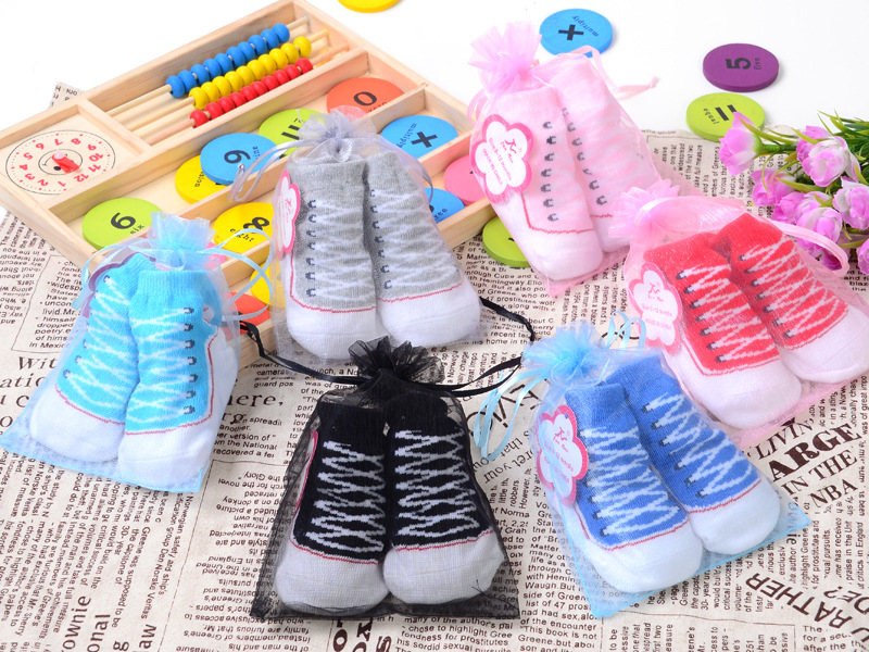1 pair 0-12 months Free shipping Cute Toddler Infant Warm Indoor Newborn Comfy Cotton Boots Baby Sole Shoes Socks GYH