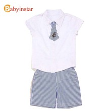 Buy 2016 New Hot Baby Boy Clothing Set Children T Shirts+ Striped Shorts Kids Clothes Boys Roupas Infantis Menina Retail Summer for $6.99 in AliExpress store