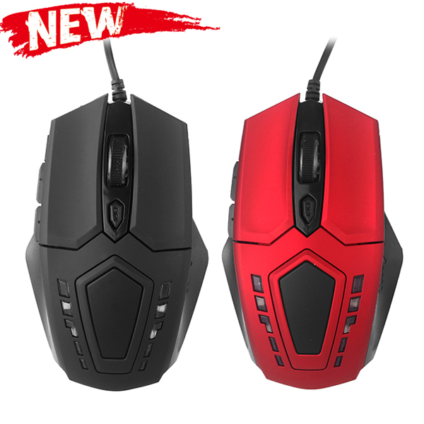 Professional 2400 DPI 6D Buttons Optical Gaming Mouse USB Wired LED Game Mouse for Computer PC Laptop Game Wholesale Retail(China (Mainland))