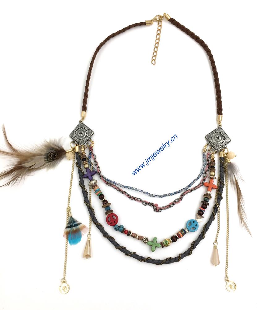 Jewelry wholesale Boho style beaded necklace statement ...