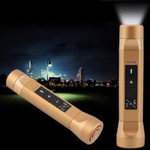 Bike Camping LED Flashlight Torch Speaker Power Charger with MP3 Music Player(China (Mainland))
