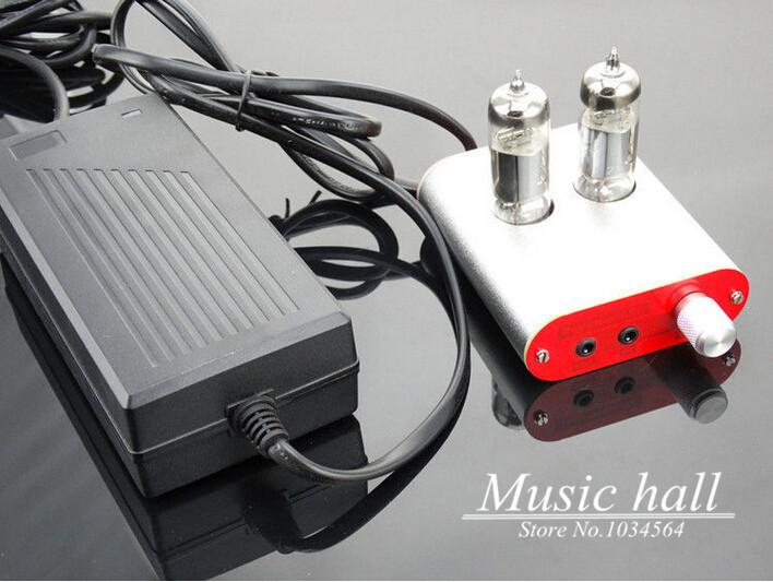(Hot sale high-quality) 6J5 Class A tube headphone amplifier Decode audio HIFI DIY AMP with power supply(China (Mainland))
