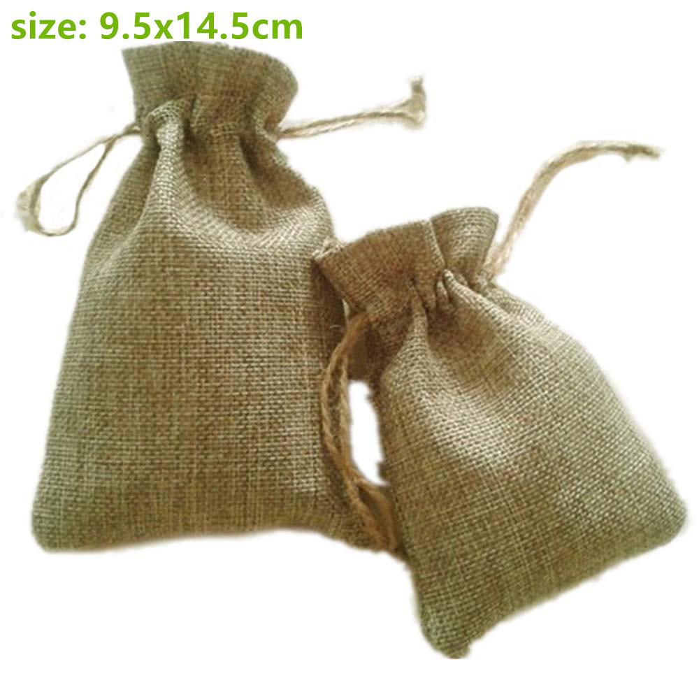 10x15cm Faux jute/Hessian Burlap Drawstring sack Bags wedding bomboniera Christmas Gift Packaging bags for Handmade Soap(China (Mainland))