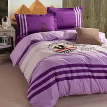 Egypt pyramid bedding set 4pcs purple 100% cotton bedspreads linens embroidery quilt cover bed sheet pillow cases Sphinx B5045(China (Mainland))