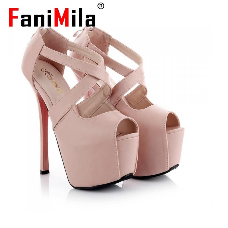 women peep open toe red bottom high heels sandals cross strap sexy fashion ladies heeled footwear heels shoes size 34-38 P19263<br><br>Aliexpress