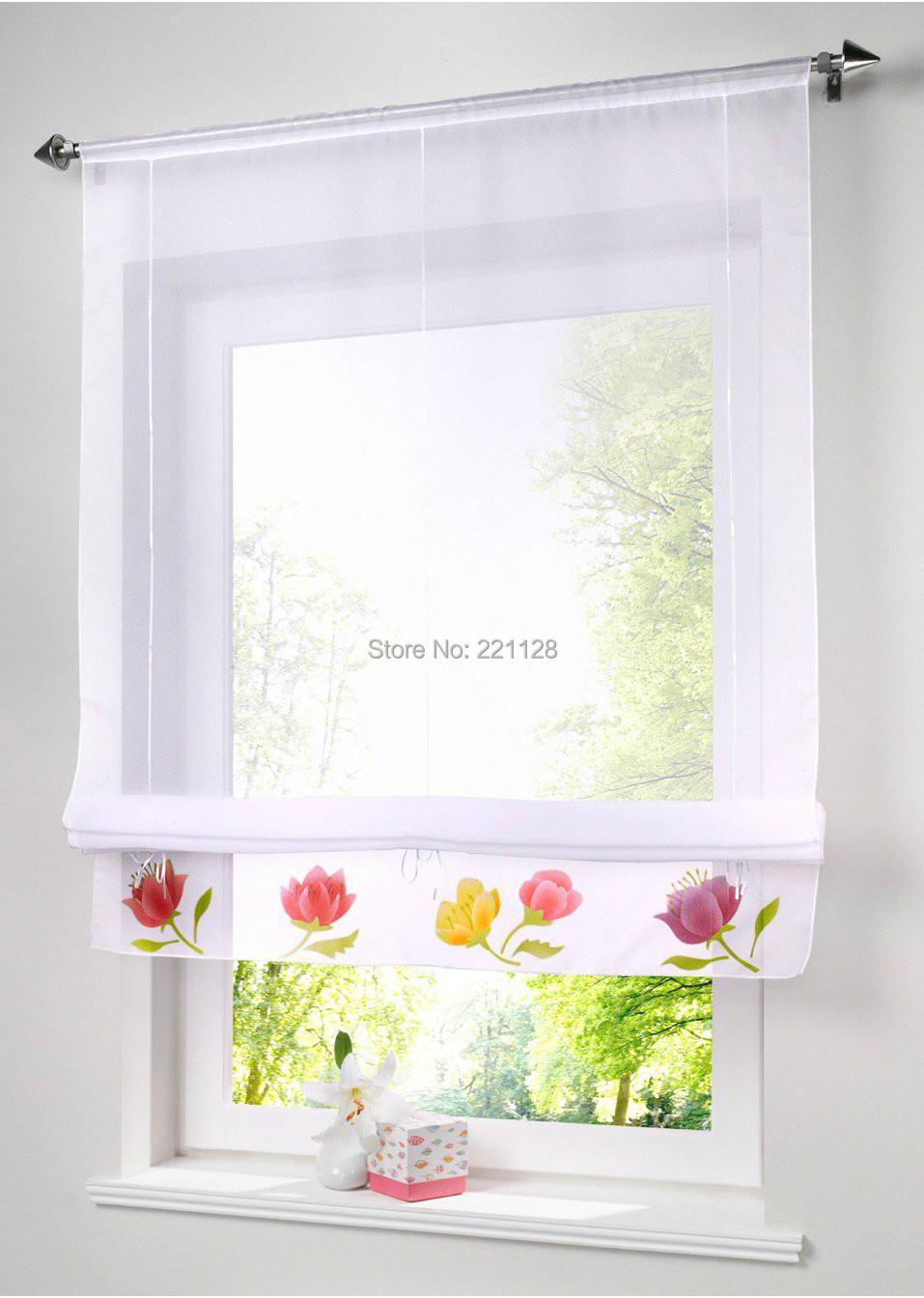 Acheter hot vente imprim floral rideau for Voilage pour cuisine moderne