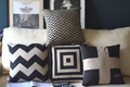 Classic vintage black and white cushion minimalist Scandinavian England Cushion decorate stylish soft Cushion FreeShipping
