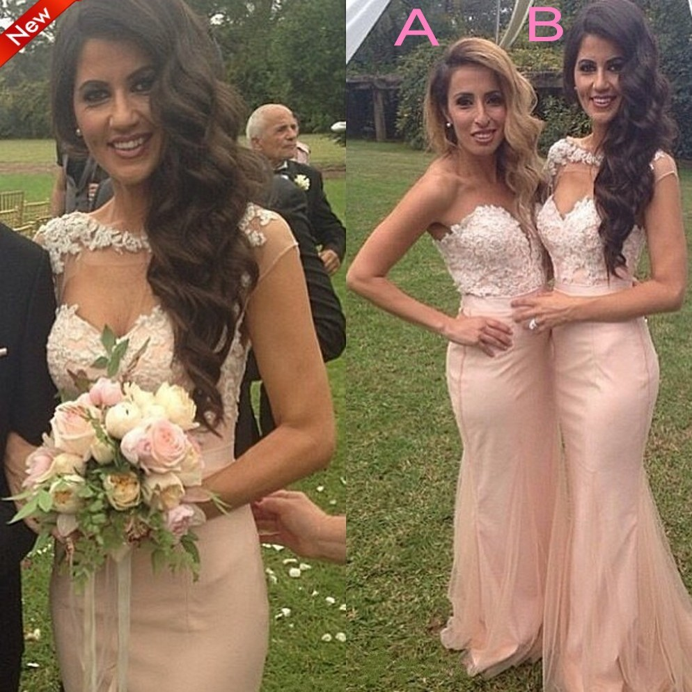 Popular navy and silver bridesmaid dresses buy cheap navy and lace mermaid bridesmaid gown navy bluepeachivorychampagnesilveryellow ombrellifo Image collections