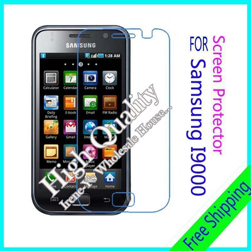 3 X high clear glossy phone screen protect film For Samsung I9000 free shipping(China (Mainland))