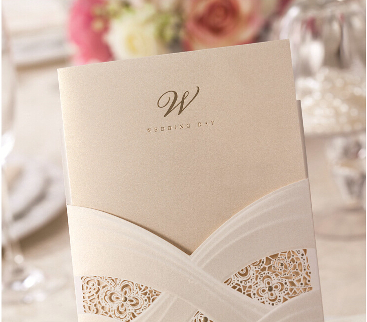 personalized elegant floral cut cheap wedding party invitation card