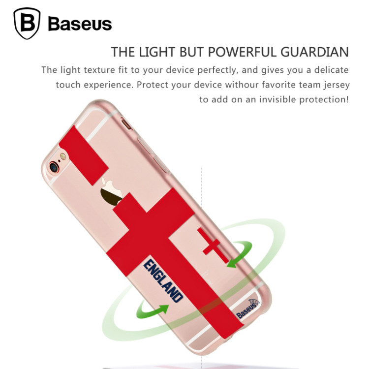 BASEUS Quality Design for World Cup Football Match Gamer Soccer Fans Series for iPhone 6 6S/Plus 4.7 5.5'' TPU Back Cases Cover(China (Mainland))