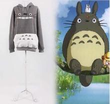 Hayao Miyazaki chinchilla Hooded Jacket casual anime lovers autumn and winter students thickened hoodies clothing(China (Mainland))