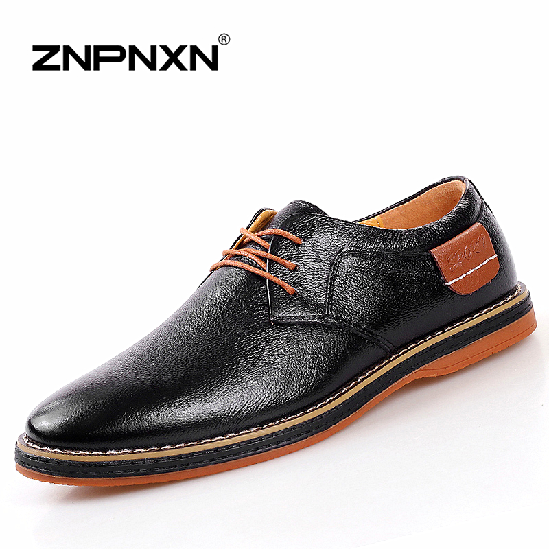 ZNPNXN Genuine Leather Men Shoes Casual Men Oxfords Shoes For Men Flats Brand Winter Warm Formal Men Shoes Chaussure Homme(China (Mainland))
