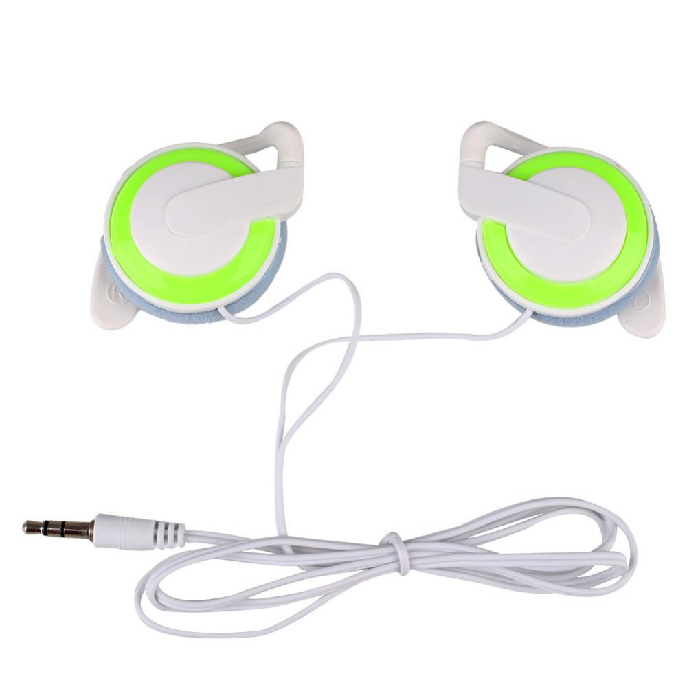 3 Colors 3.5mm Ear-hook Headphones Earphone Wired Headset For Cellphone MP3 MP4 PC Computers Red/Black/Green
