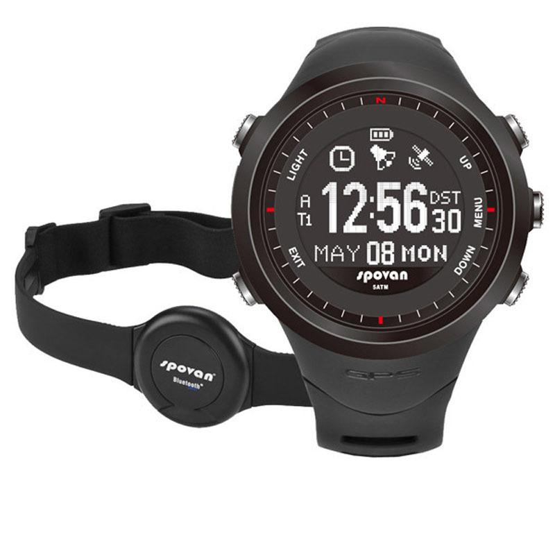 50m Waterproof Sport Watch Wristwatches 3D Pedometer GPS Navigation Heart Rate Monitor Chest Strap Fitness Wristwatch Men Women(China (Mainland))
