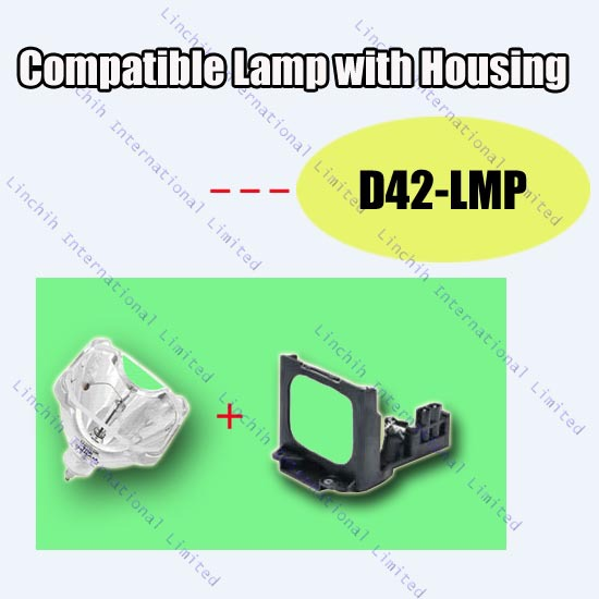D42-LMP / 72620067 / LMP-D42 for Toshiba projector 42HM66 / replacement projector bulb / compatible projector lamp with housing<br><br>Aliexpress