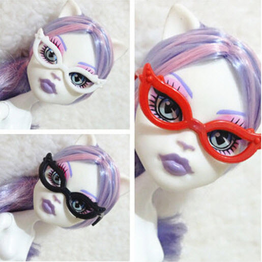 10pcs/set Dolls Equipment Mini Plastic Glasses For Monster Excessive Dolls For Barbie Dolls 1/6 Doll Home Youngsters Toy Social gathering Glasses