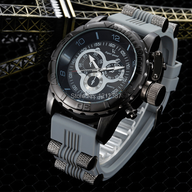 Hot Creative Fashion Silicone Mens Watch Leisure Sport Watch 4 Colors HB88<br><br>Aliexpress