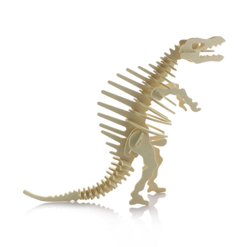 Dinosaur DIY Mini Wooden Model Jigsaws 3D Wooden Puzzles Simulation Model Home Decoration Planning Learning Tyrannosaurus(China (Mainland))