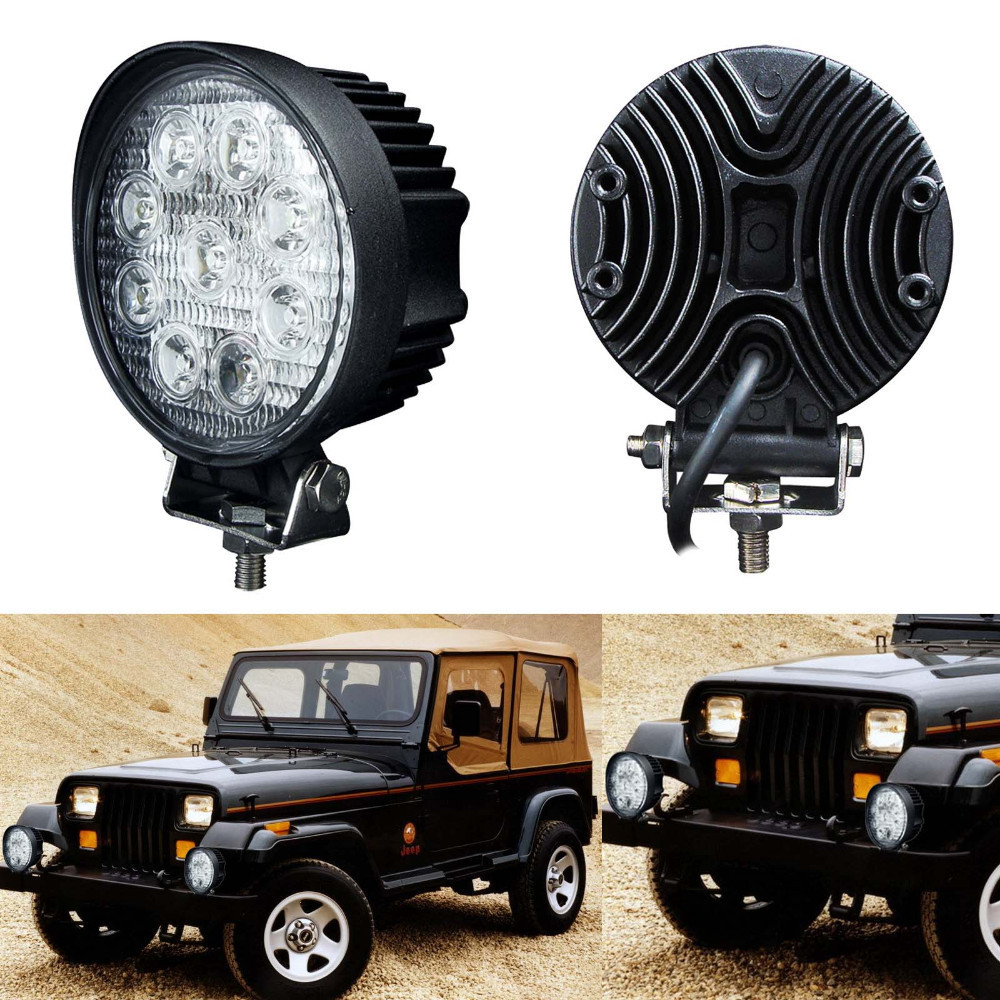 4 Inch 27W 12V 24V LED Work Light Off Road Spot Flood Fog Light ATV Tractor