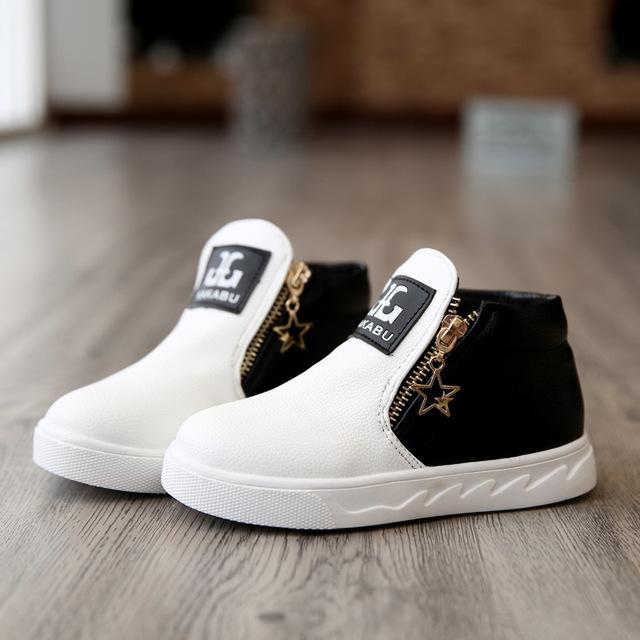 Новое поступление осень дети мартин мальчиков обувь девушки мода ботильоны дети свободного ...