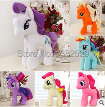 25cm new Rainbow MLP little horse plush toys Cartoon Animals Baby Toy for Children Gifts Wedding Gifts toys 6pcs/lot