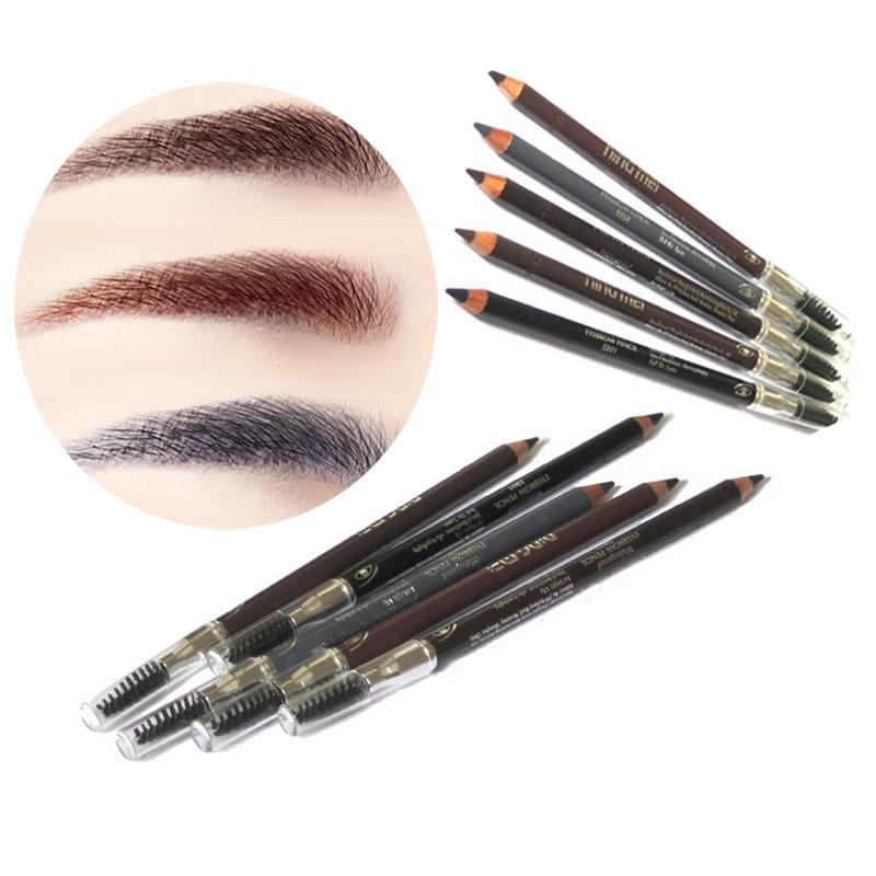 5 Colors Eyebrow Pencil Paint Waterproof Long Lasting Eye Brow Pencil Brush Eyes Makeup Beauty Makeup Tools Eyebrow Pen Drawing(China (Mainland))