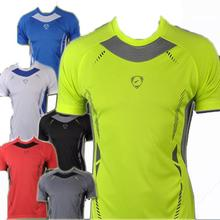 Drop Shipping Outdoor Sports Muscle Casual Short Sleeve Workout Brand T shirt Mens Undershirt Fitness Bodybuilding Clothing Men