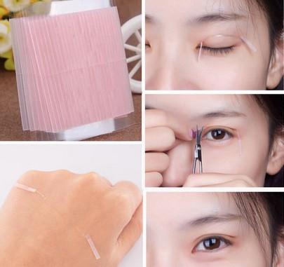 Dupla face natural não traçar discrição pálpebra dupla dobra artigo postou fibra de maquiagem cor