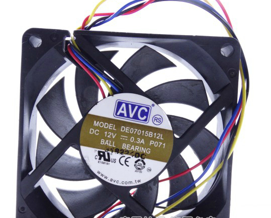 4 AVC 7CM cm thin wire PWM Silent CPU cooler thermostat 0.3a 12v dual ball 7015(China (Mainland))