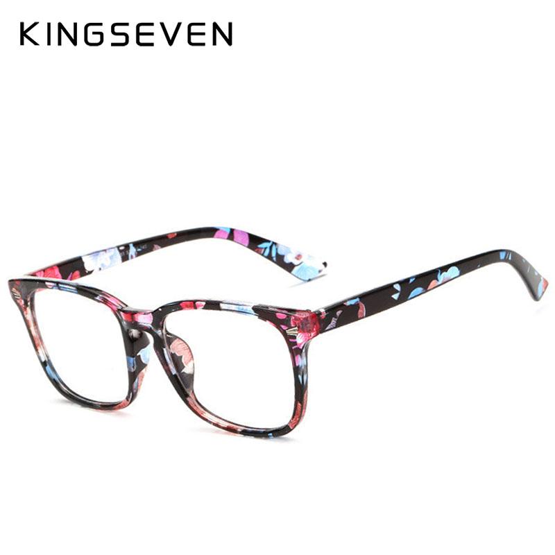 Kingseven Brand Design 2017 Fashion Diamond Women Eyeglasses Frames Women Computer Reading Spectacle Optical Frame Eye Glasses