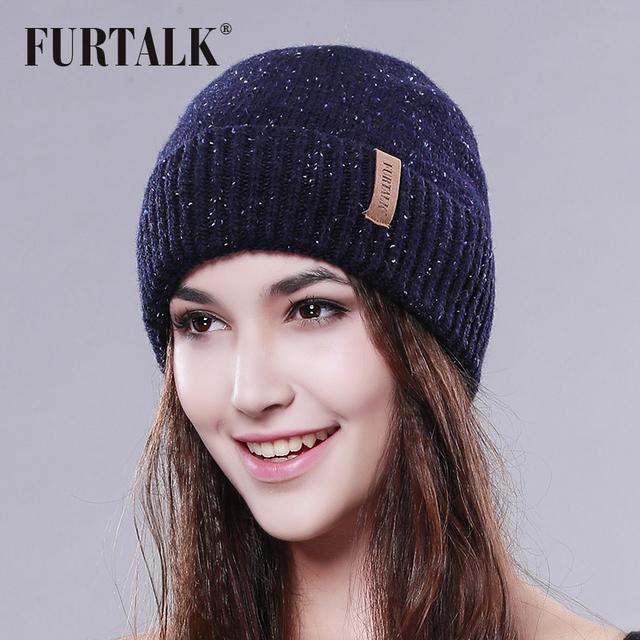 FURTALK wool hat warm winter women hat fashion hat for winter brand beanie hat