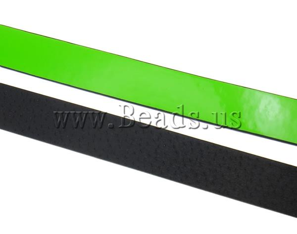 Free shipping!!!Leather Cord,Men Fashion Jewelry, green, 20x2mm, Length:Approx 20 m, 20Strands/Ba Sold By Bag