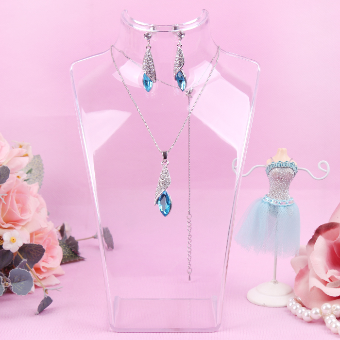 Model aircraft necklace holder rack transparent portrait pendant frame jewelry holder accessories display shelf free shipping(China (Mainland))