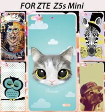 Soft Hard Phone Cases For ZTE Nubia z5s mini Z5SMini Cases Deer Owl Dog Plastic Back Cover Skin Shield Housings Hood Sheath Bag(China (Mainland))