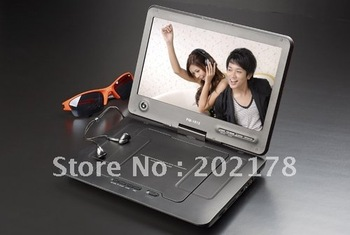 10.1 inch portable dvd player with dvb-t TV tuner