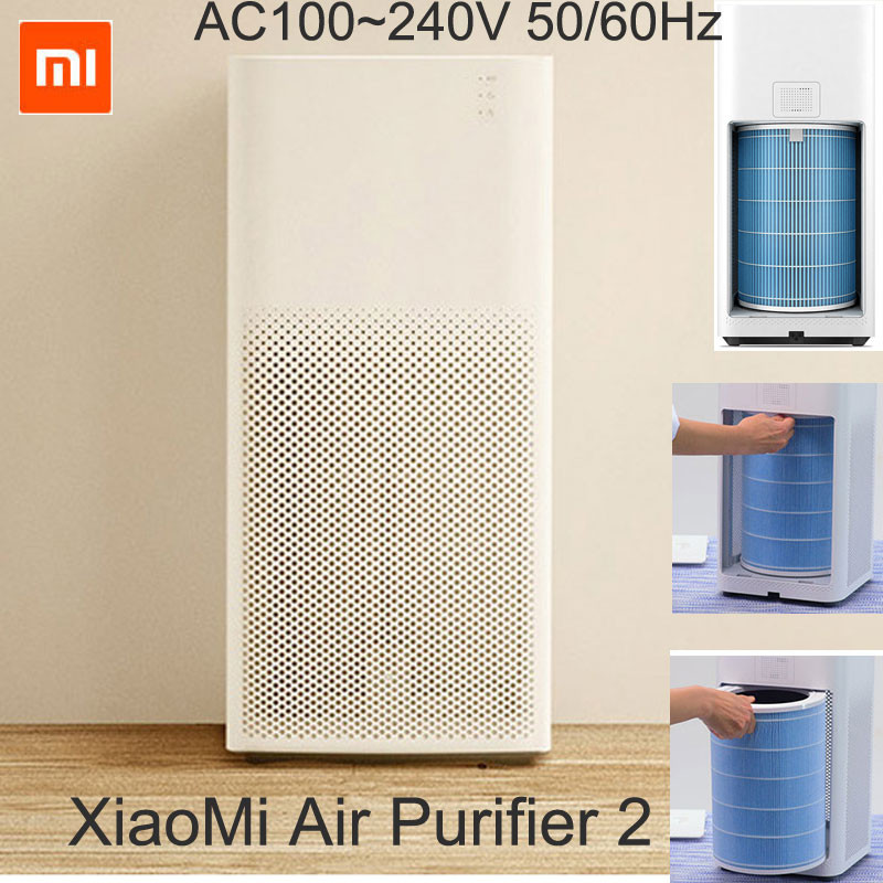 Original Xiaomi Smart Mi Air Purifier 2 HEPA Air Cleaner and air filters Silent technology highest Clean Air Delivery Rate(China (Mainland))