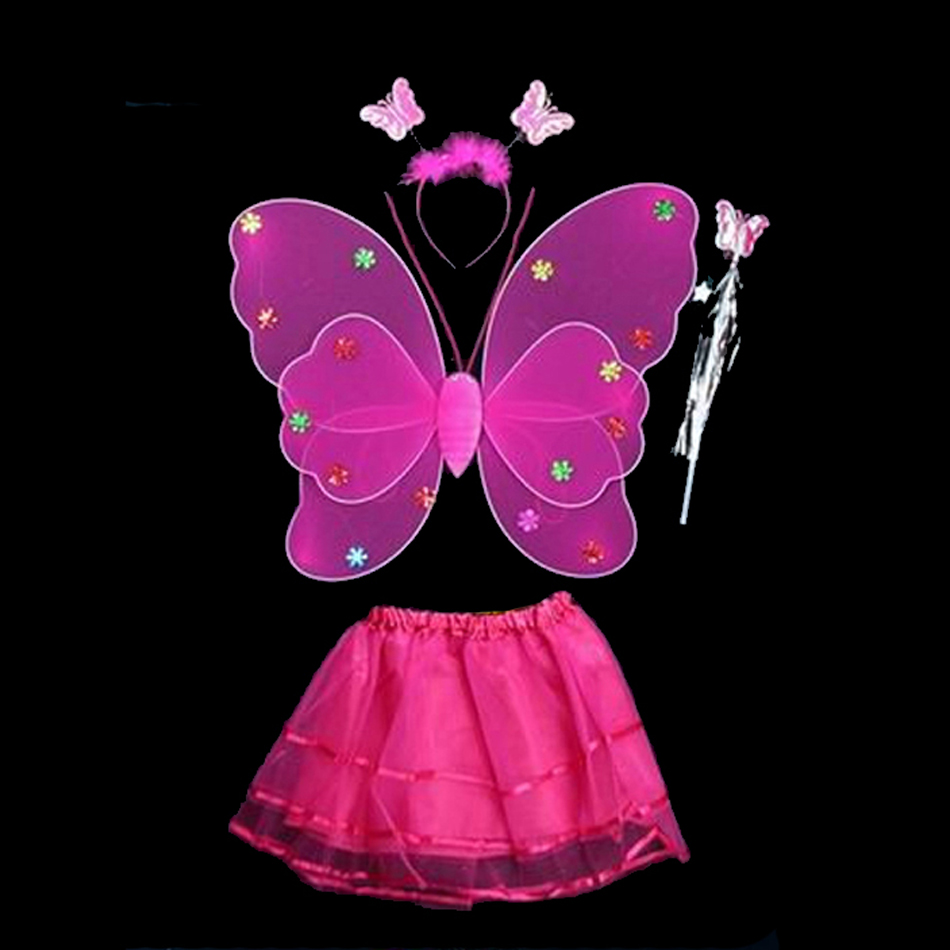 Гаджет  Newly Socks Cloth Cosplay Fairy Angel Wings Insect Theme Costume 8Colors Children Girl Butterfly Wings Costume None Одежда и аксессуары