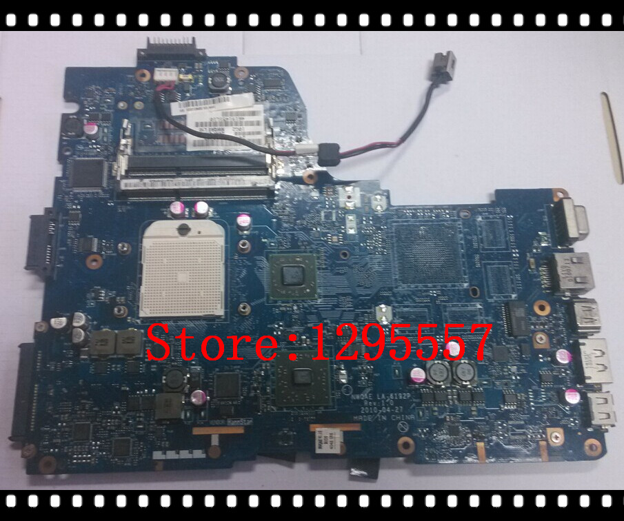 Original K000108480 For Toshiba Satellite A660D A665D Motherboard integrated NWQAE LA-6192P 100% fully tested(China (Mainland))