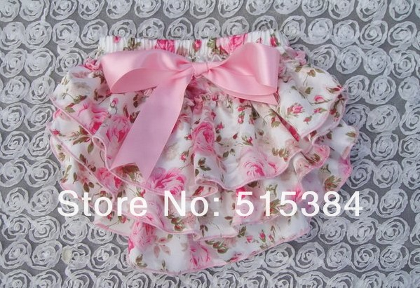 cute floral satin bloomer for kids wholesale Vintage Floral Satin Bloomer Newborn Baby Girl Outfit Photo Prop12pcs/lot<br><br>Aliexpress