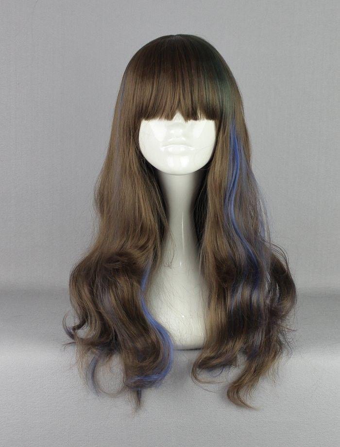 bjc 00164 Cheap 85cm Long Color Mixed Beautiful lolita wig Anime Wig<br><br>Aliexpress