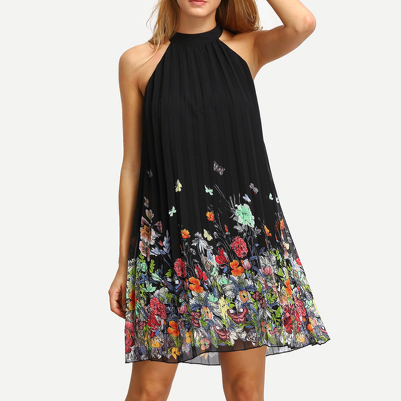 Чёрное платье для лета