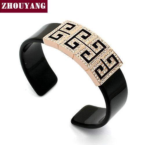 Top Quality Style  Rose/White Gold Plated Bangle Jewelry Made with Genuine Elements Austrian Crystals Wholesale ZYB021 ZYB022